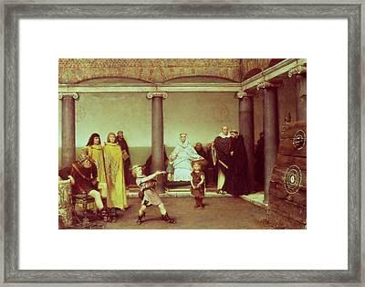 The Education Of The Children Of Clothilde And Clovis Framed Print by Sir Lawrence Alma-Tadema