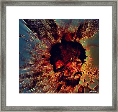The Effects Of Our  Mutants Thoughts Framed Print by Paulo Zerbato