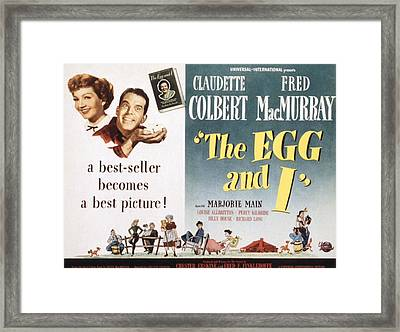 The Egg And I, Claudette Colbert, Fred Framed Print