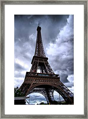 Framed Print featuring the photograph The Eiffel Tower by Edward Myers