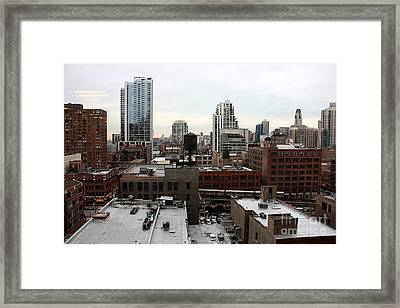 The El And The Water Tower Framed Print by David Bearden