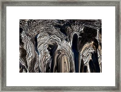 The Elephant And The Cave Man Framed Print