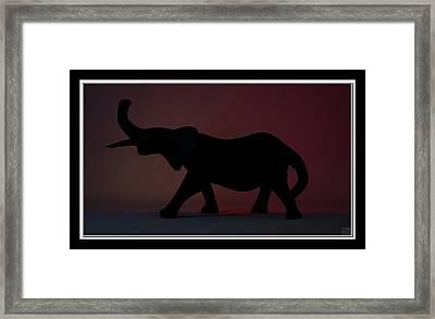Framed Print featuring the digital art The Elephant... by Tim Fillingim