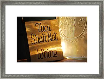 The Eleventh Commandment Framed Print by Kimberly Little