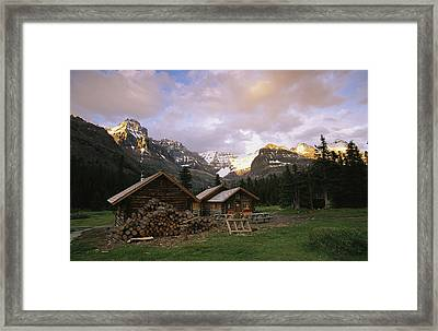 The Elizabeth Parker Hut, A Log Cabin Framed Print by Michael Melford