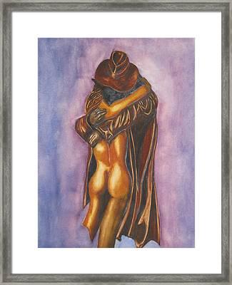 The Embrace Framed Print by Emmanuel Turner