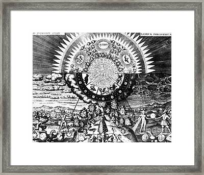 The Emerald Tablet, 1618 Framed Print by Science Source