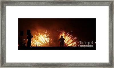 The Emergence Of The Devil Framed Print by Agusti Pardo Rossello