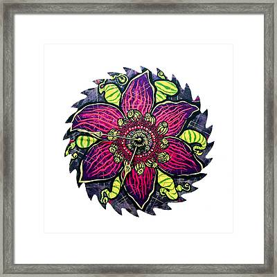 The Emory-gold Clock Blossom Framed Print by Jessica Sornson