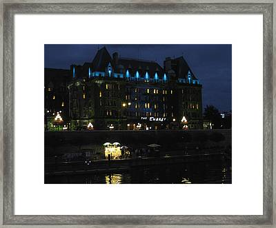 The Empress At Night Framed Print by Kathy Long