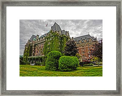 The Empress Hotel On Victoria Island Framed Print by Gregory Dyer