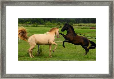 The Encounter Framed Print