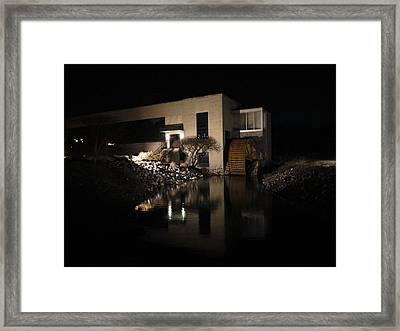 The End Of A Dark Stream Framed Print by Guy Ricketts