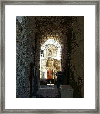 The End Of The Road - El Fin Del Camino Framed Print by Rezzan Erguvan-Onal
