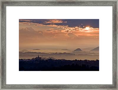 The End Of The Storm Framed Print by Marco Busoni