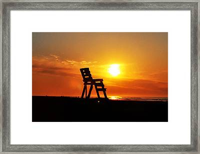 The End Of The Summer Framed Print by Bill Cannon
