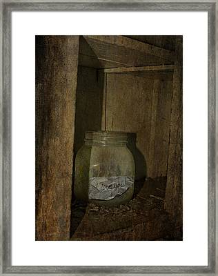 The Endless Jar  Framed Print by Jerry Cordeiro