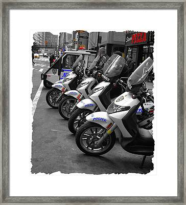 The Enforcers Framed Print by Anthony Chia-bradley