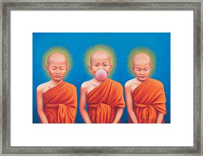 The Enlightened One Framed Print by Alessandra  Desole