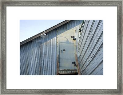 The Entry To A Metal Shed On A Sawmill Framed Print by Joel Sartore