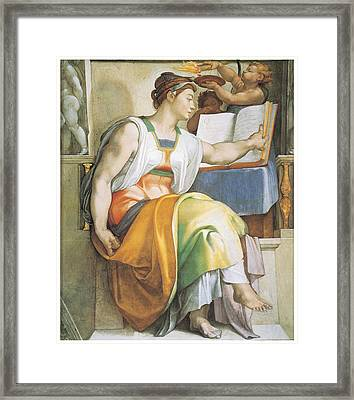 The Erythraean Sibyl Framed Print by Michelangelo Buonarroti