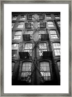 Fire Escape Detail Framed Print by Vintage Pix