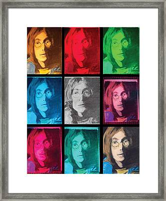 The Essence Of Light- John Lennon Framed Print by Jimi Bush