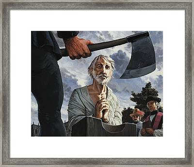 The Execution Of Walter Raleigh Framed Print by Severino Baraldi