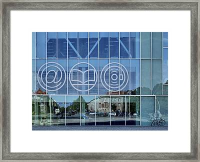 The Exterior Glass Walls Of A Modern Framed Print by Jaak Nilson