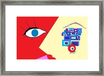 The Eyes Meet Framed Print by Miriam Lopez