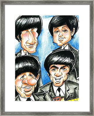 The Fab Four Framed Print by Big Mike Roate