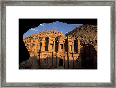 The Facade Of The Framed Print by Richard Nowitz