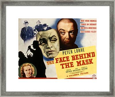 The Face Behind The Mask, Peter Lorre Framed Print by Everett