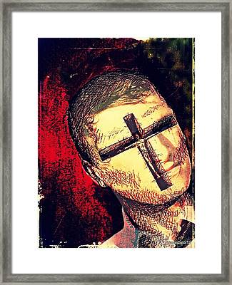 The Face Is Sowing Fertile Shadow Of The Cross Framed Print