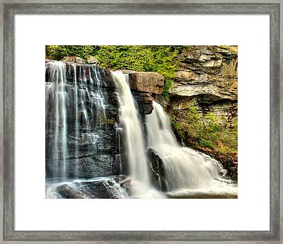 Framed Print featuring the photograph The Face Of The Falls by Mark Dodd