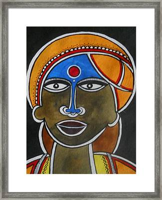 The Face Framed Print by Paritosh Pal
