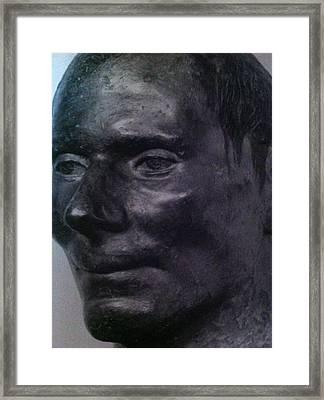The Face Framed Print by Paul Washington