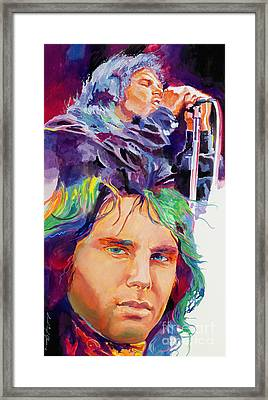 The Faces Of Jim Morrison Framed Print by David Lloyd Glover