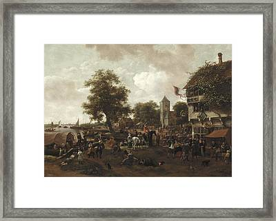 The Fair At Oegstgeest Framed Print by Jan Havicksz  Steen