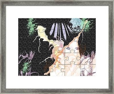 The Fairies Are Loose Framed Print by Paula  Adams