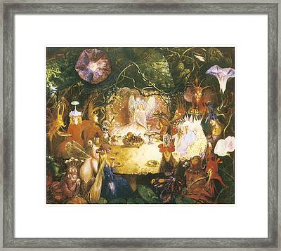 The Fairies Banquet Framed Print by John Anster Fitzgerald