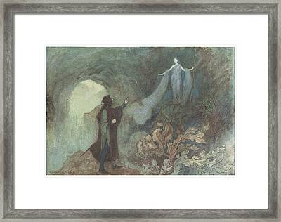 The Fairy Appearing To The Prince Framed Print by Warwick Goble