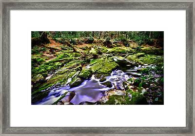 The Fairy Brook Framed Print by Kim Shatwell-Irishphotographer