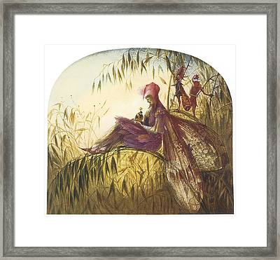 The Fairy Falconer Framed Print by John Anster Fitzgerald