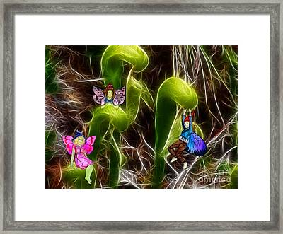 The Fairy's Playground Framed Print by Methune Hively