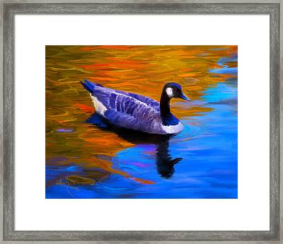 The Fall Goose Framed Print by Suni Roveto