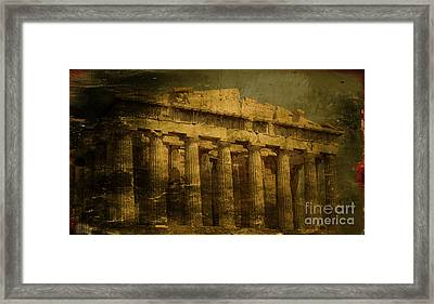 The Fall Of Athens Framed Print by Lee Dos Santos