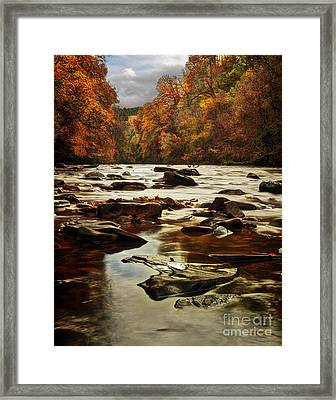 The Fall On The River Avon  Framed Print