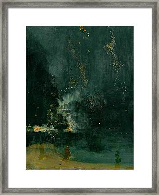 The Falling Rocket Framed Print by James Abbott Whistler