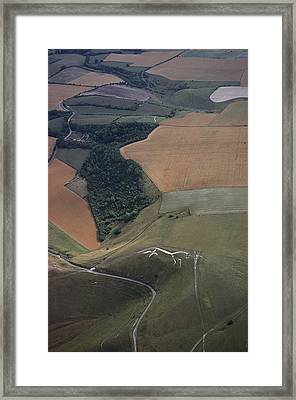 The Famed Uffington Framed Print by James P. Blair